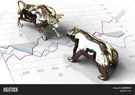 Bull Bear Stock Market Image Photo Free Trial Bigstock
