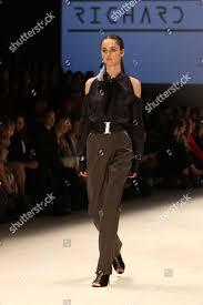 Fashion Design Studio Sydney Model On Catwalk Showcases Designs By Richard Editorial