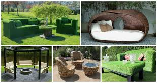 Unique garden furniture Lawn Top Inspirations 12 Unusual Garden Furniture For Unique Garden Top Inspirations