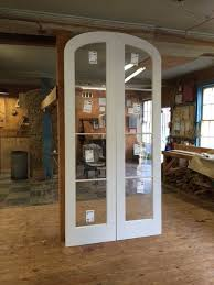 custom wood elliptical arched top double french doors o83