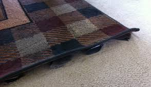 diy fixing a rug that has curled up