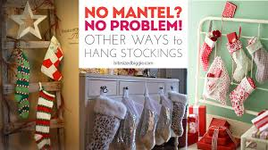 other creative ways to hang stockings