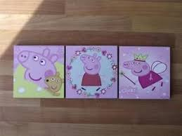 image is loading peppa pig pink canvas wall art plaques pictures  on pig canvas wall art with peppa pig pink canvas wall art plaques pictures free post ebay