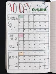 Group Fitness Challenge Tracker Bullet Journal 30 Day Fitness Challenge Tracker Stay Dedicated