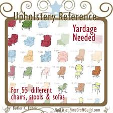 Upholstery Chart For Furniture Upholstery Reference Charts