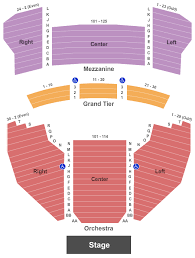 Meyer Theatre Seating Chart Green Bay