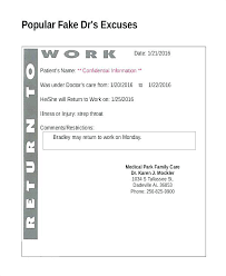 Excuse From Work Doctors Note Doctor Excuse Letter Template Kazakia Info