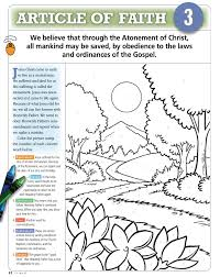 Lds Coloring Pages Articles Of Faith Murderthestout