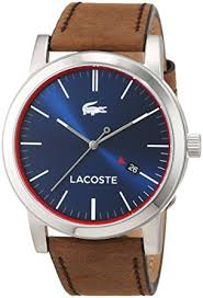 lacoste mens quartz watch analogue classic display and leather lacoste mens quartz watch analogue classic display and leather strap 2010848