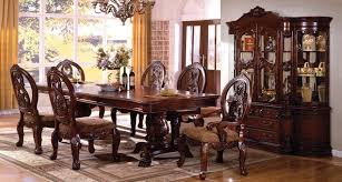 Pedestal Dining Table Set Tuscany Ii Antique Cherry Rectangle Extending Dbl Pedestal Dining