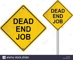 dead end job dead end job road sign isolated on white background stock vector art
