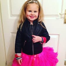 one fierce little girl off to the sch disco tutu tutu and leather jacket