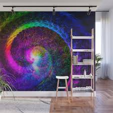 spiral tie dye light painting wall