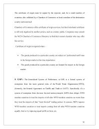 Letter Of Origin Export Procedure Documentation