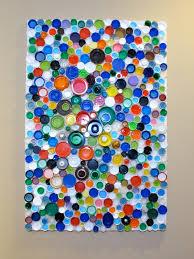 Upcycled Wall Art Blukatkraft How To Make An Upcycled Plastic Bottle Cap Mosaic