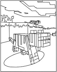 Minecraft Ocelot Coloring Pages 550x687 Picture Coloring And