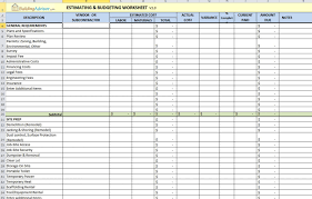 Home Construction Estimator Excel 014 Construction Cost Estimate Template Excel India Ideas