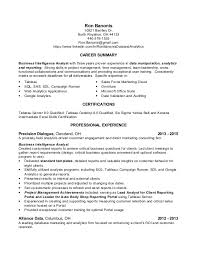 data analyst resume summary
