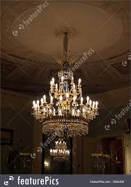 crystal chandelier lighting in the castle hall