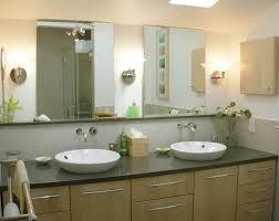 frameless bathroom vanity mirrors. Bathroom. Delightful Modern Vanity Ideas For Small Bathrooms Presenting Wooden Bathroom Cabinet With Black Marble Frameless Mirrors
