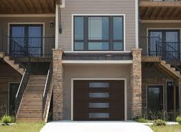 modern garage door. Garaga - Standard+ Garage Door, Model MIX, Brun Moka, Central Harmony  Window Layout Modern Door
