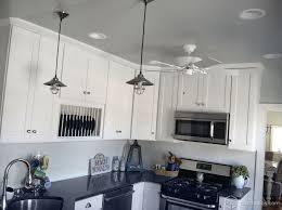 industrial pendant lights white kitchen