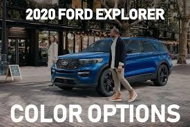 2016 Ford Explorer Color Chart What Are The 2020 Ford Explorer Color Options Muzi Motors Inc