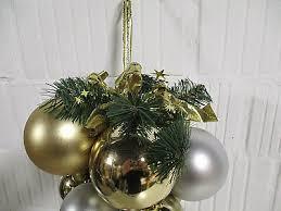 Deko Weihnachten Silber Gold Kugeln Weihnachtsdeko