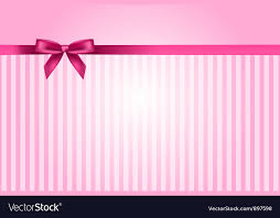 pink background with bow vector image