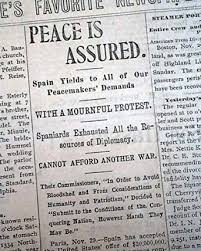「1898 Spanish–American War end」の画像検索結果