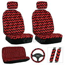 chevron red black seat cover 11 pc set chevron car accessories