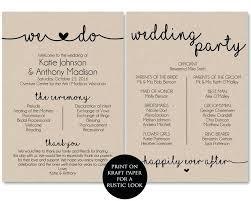 Free Printable Wedding Program Templates Essential Figure