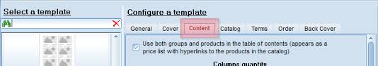 Product Catalog Template. Configuration Of Table Of Contents And ...