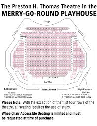 Seating Charts Merry Go Round Playhouse Theater Mack