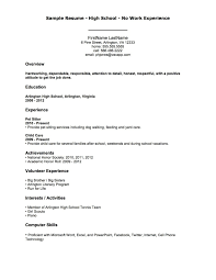 A Sample Resume For A First Job Sample Resume Of College Student With No Work Experience Valid 1