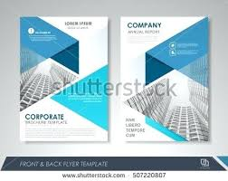 color business brochure cover vector template annual report front page free