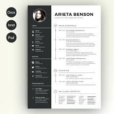 Illustrator Resume Templates Creative Free Printable Curriculum ...