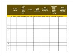 Download Word Doc Medication Chart Template Uk Med Download Schedule Word Doc