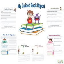 Book Report Template Guided Book Report For Kids Teach Beside Me