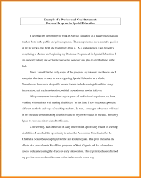 Professional Goal Statement Examples For Graduate School And