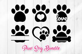 Choose from several glitter color options. Paw Svg Dog Paw Prints Graphic By Dtcreativelab Creative Fabrica