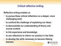 critical reflective essay writing power point help thesis  critical reflective essay writing
