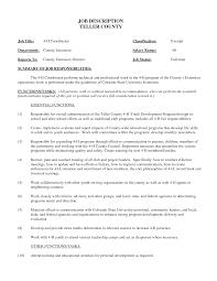 Resume Skills For Bank Teller Bank Teller Duties To Put On Resume