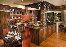 Ceramic Tile Kitchen Design Interior European Kitchen Design Of Kitchen Island With Breakfast