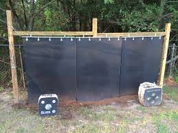 my arrow backstop that i finally finished i started off with a 4x4 frame about