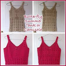 Crochet Tank Top Pattern Extraordinary Butterfly Summer Tank Top FREE Crochet Pattern