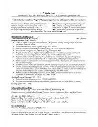Cover Letter Property Manager Duties For Resume Best Of Unique
