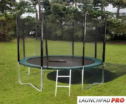 this trampoline strikes the perfect balance for all the family with an upper weight limit of 150kg it sits 85cm from the ground and its 12ft frame gives a