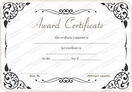 Award Of Excellence Certificate Template Award of Excellence Template Get Certificate Templates 11