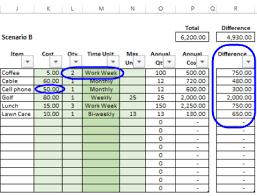 Excel Annual Cost Calculator